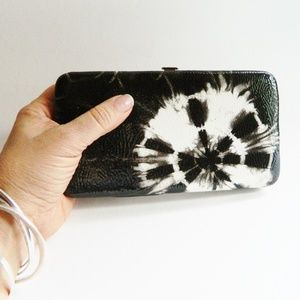Black and White Clutch Wallet
